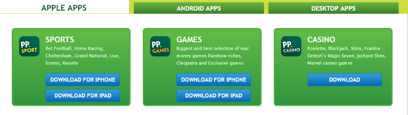 paddy power mobile apps