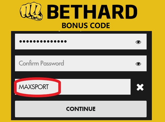 Where to use the bethard bonus code