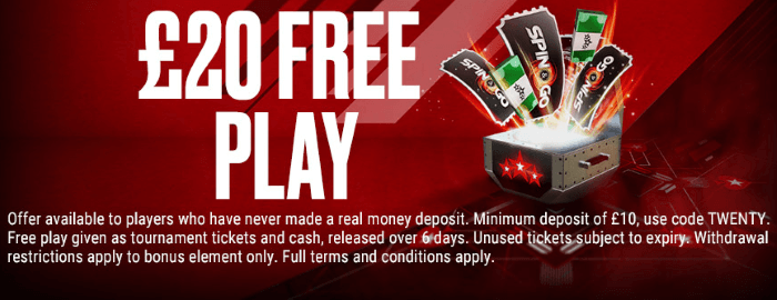 Pokerstars Welcome Offer