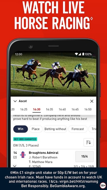 Live and Virtual Horse Racing