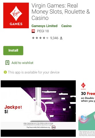 Virgin Games Android App